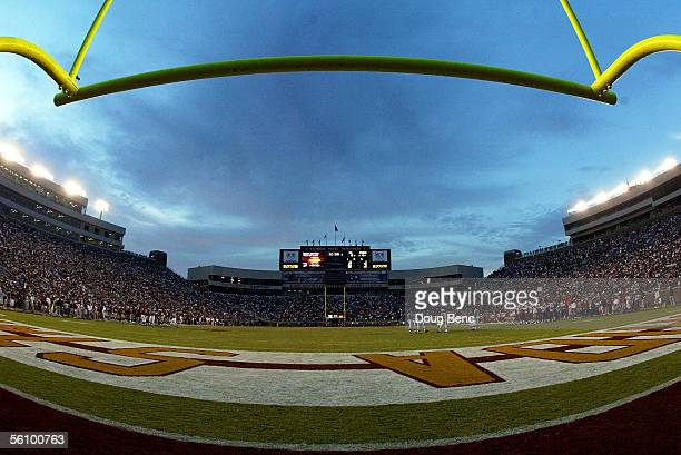 A general view of the field in the third quarter as the North Carolina State Wolfpack take on the Florida State Seminoles at Doak Campbell Stadium on...