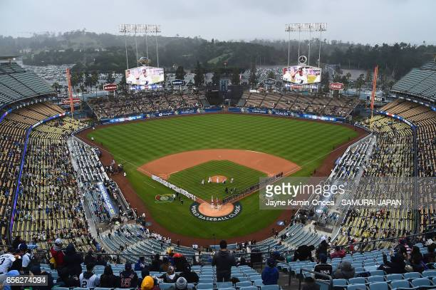A general view of the field is seen before team United States takes on team Japan during Game 2 of the Championship Round of the 2017 World Baseball...