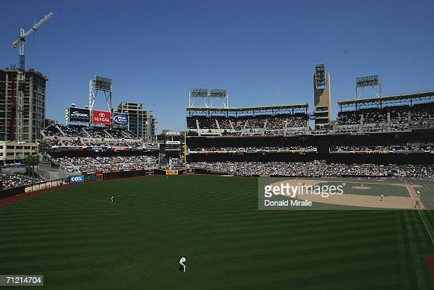 General view of the field is seen during the San Diego Padres and Los Angeles Dodgers MLB Game on June 15, 2006 at PETCO Park in San Diego,...