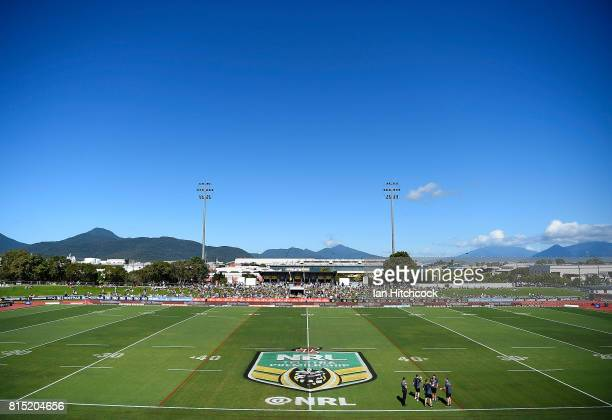 A general view of the field of play before the start the round 19 NRL match between the South Sydney Rabbitohs and the North Queensland Cowboys at...