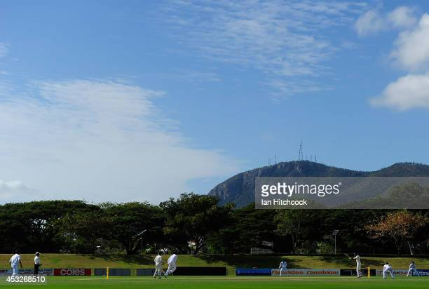 A general view of the field of play during the match between Australia 'A' and South Africa 'A' at Tony Ireland Stadium on August 7 2014 in...