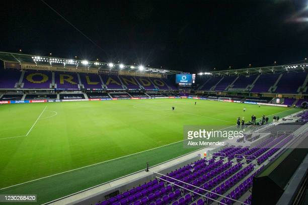 General view of the field prior to the CONCACAF Champions League final game between Tigres UANL and Los Angeles FC at Exploria Stadium on December...