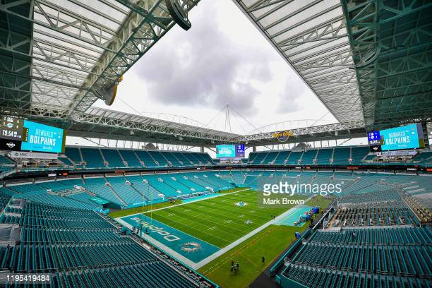 General view of the field prior to the game between the Miami Dolphins and the Cincinnati Bengals at Hard Rock Stadium on December 22, 2019 in Miami,...