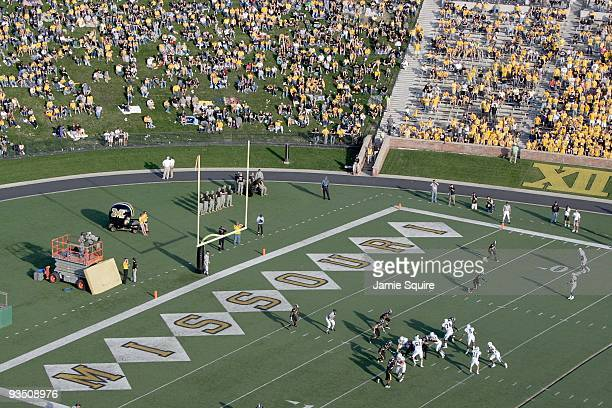 General view of the field taken during the game between the Baylor Bears and the Missouri Tigers at Faurot Field at Memorial Stadium on November 7,...