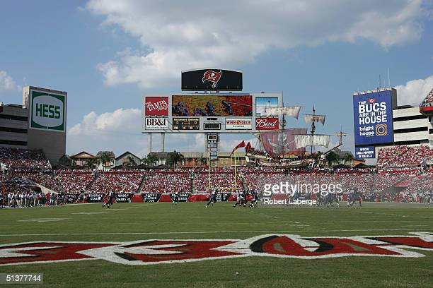 General view of the field taken during the game between the Seattle Seahawks and the Tampa Bay Buccaneers at Raymond James Stadium on September 19,...