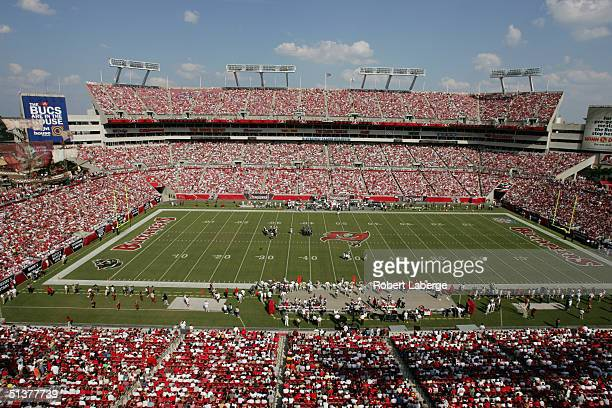 A general view of the field taken during the game between the Tampa Bay Buccaneers and the Seattle Seahawks at Raymond James Stadium on September 19...