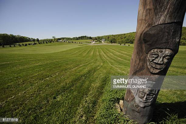 A general view of the field where the 1969 Woodstock music festival took place at Bethel Woods Center for the Arts in Bethel New York The museum...