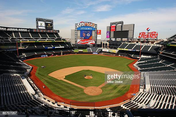 A general view of the fields and stands of Citi Field on March 25 2009 in the Flushing neighborhood of the Queens borough of New York City