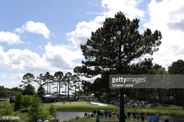 A general view of the fifth green during round three of the Wells Fargo Championship at Eagle Point Golf Club on May 6 2017 in Wilmington North...