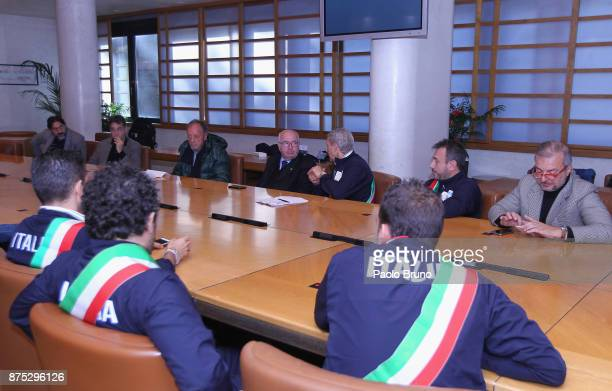 A general view of the FIGC and the Mayors national team meeting on November 17 2017 in Rome Italy