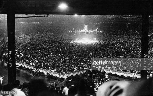 A general view of the fight between Joe Frazier and Max Schmeling at Yankee Stadium in BronxNew York Joe Louis won by a KO 1