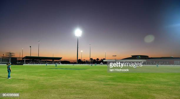 A general view of the filed of play is seen during the the Women's Big Bash League match between the Brisbane Heat and the Melbourne Stars at Harrup...