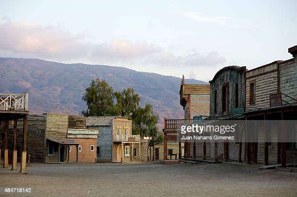 A general view of the film set at Fort Bravo/Texas Hollywood on August 20 2015 in Almeria Spain Fort Bravo Texas Hollywood built in the 1960s in...