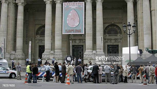 General view of the Film set of 'Pink Panther 2' located at the Musee du Petit Palais on August 23 2007 in Paris France