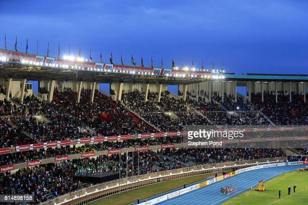 A general view of the final of the girls 1500m on day four of the IAAF U18 World Championships at the Kasarani Stadium on July 15 2017 in Nairobi...