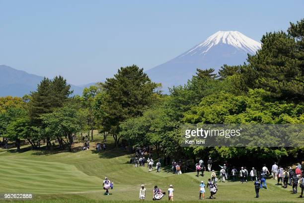 A general view of the final round of the CyberAgent Ladies Golf Tournament at Grand fields Country Club on April 29 2018 in Mishima Shizuoka Japan