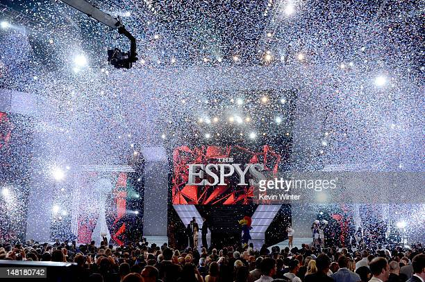 A general view of the finale is seen onstage during the 2012 ESPY Awards at Nokia Theatre LA Live on July 11 2012 in Los Angeles California