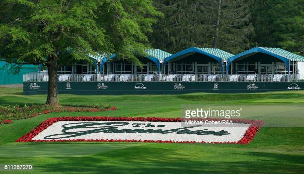 General view of the finishing holes and logo during the fourth and final round of The Greenbrier Classic held at The Old White TPC on July 9, 2017 in...