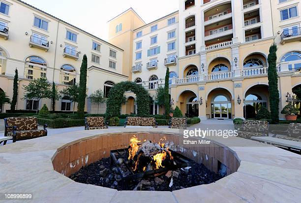 General view of the fire pit in the Florentine Garden at Ravella at Lake Las Vegas, a Dolce Hotel & Resort, February 8, 2011 in Henderson, Nevada....