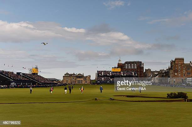 A general view of the first fairway is seen during the Champion Golfers' Challenge ahead of the 144th Open Championship at The Old Course on July 15...