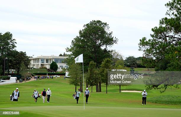 A general view of the first green during round three at the Sanderson Farms Championship at The Country Club of Jackson on November 8 2015 in Jackson...
