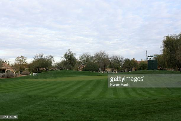 A general view of the first green is seen at the TPC Scottsdale on February 24 2010 in Scottsdale Arizona