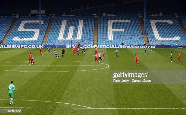 A general view of the first half action at Hillsborough Stadium home of Sheffield Wednesday during the Sky Bet Championship match between Sheffield...
