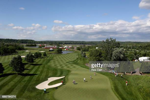 A general view of the first hole during Round 2 of the Senior PGA Championship at Trump National Golf Club on May 26 2017 in Sterling Virginia