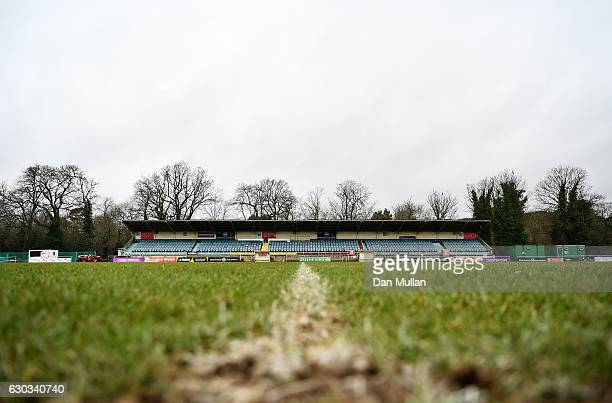 A general view of the first team pitch following a London Welsh training session at Old Deer Park on December 21 2016 in London England