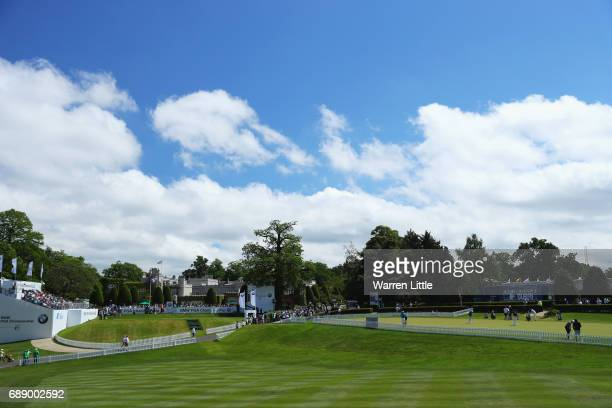 General view of the first tee and practise green during day three of the BMW PGA Championship at Wentworth on May 27, 2017 in Virginia Water, England.