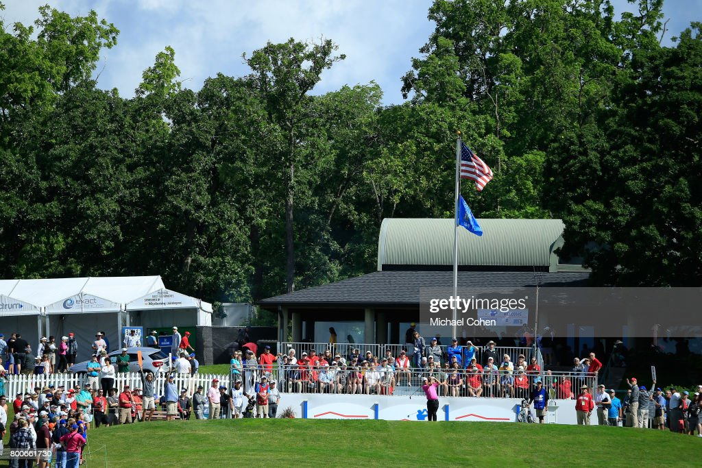 A general view of the first tee box during the second round of the American Family Insurance Championship held at University Ridge Golf Course on June 24, 2017 in Madison, Wisconsin.