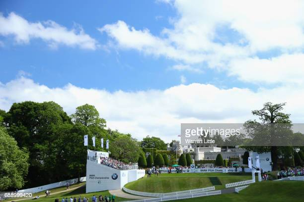 General view of the first tee during day three of the BMW PGA Championship at Wentworth on May 27, 2017 in Virginia Water, England.