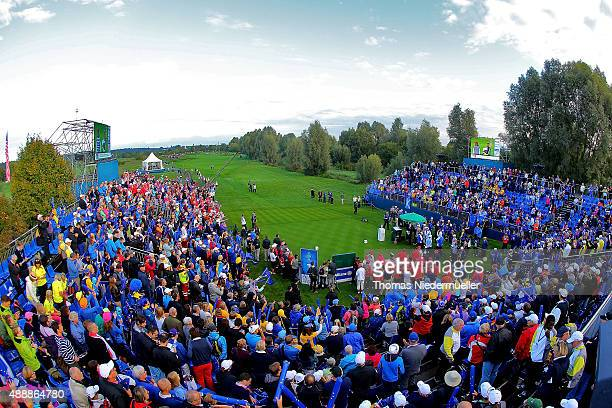 General view of the first tee during the morning foursomes on day one of the Solheim Cup 2015 at St LeonRot Golf Club on September 18 2015 in Sankt...