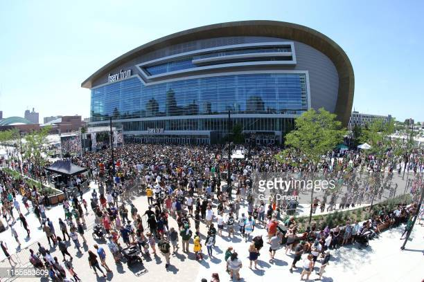 A general view of the Fiserv Forum before Giannis Antetokounmpo MVP Celebration on July 14 2019 at Fiserv Forum in Milwaukee Wisconsin NOTE TO USER...