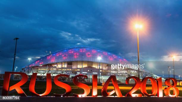 General view of the Fisht Olympic Stadium during the FIFA Confederations Cup Russia 2017 on June 24, 2017 in Sochi, Russia.