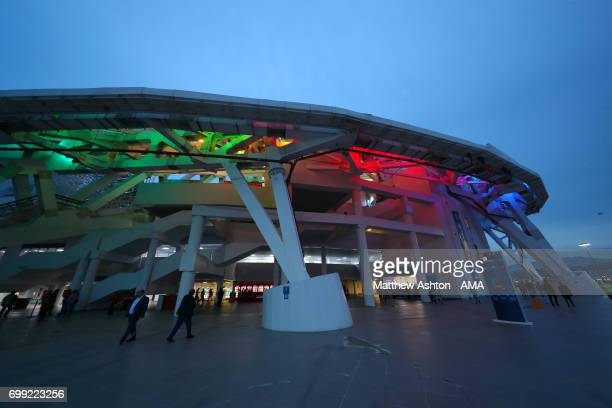 A general view of the Fisht Olympic Stadium Sochi Russia host venue of the FIFA Confederations Cup Russia 2017 and FIFA World Cup 2018 Russia after...