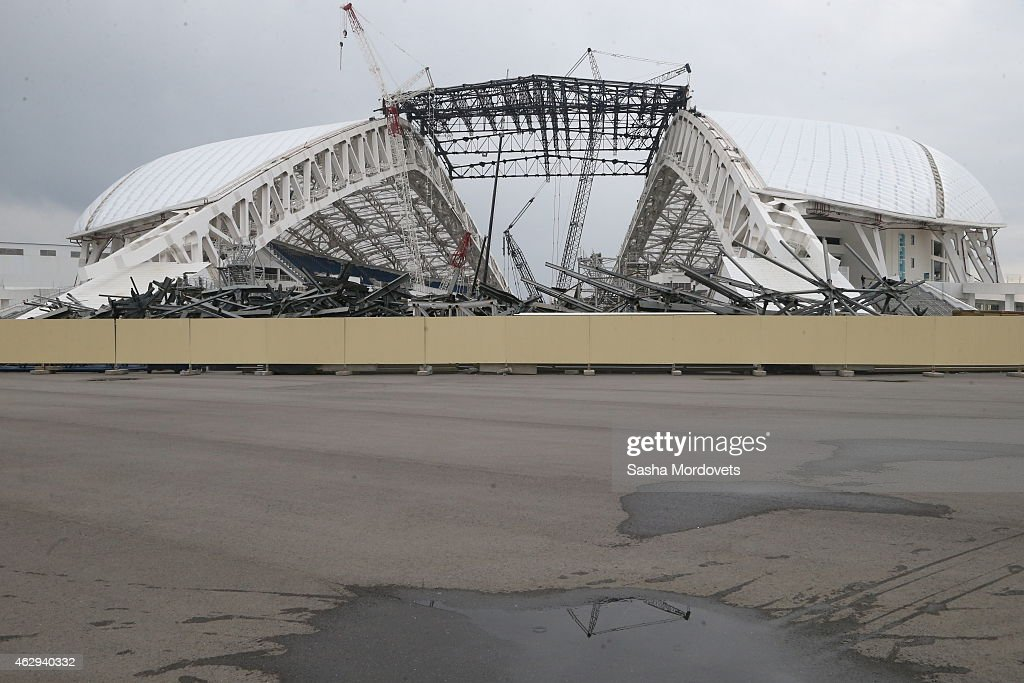 A general view of the Fisht Stadium during the 1st anniversary celebration of the Sochi 2014 Olympics in the Olympic Park February 7, 2015 in Sochi, Russia.