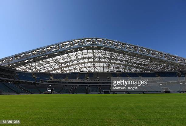 A general view of the Fisht Stadium during the FIFA News Agencies Tour for the FIFA Confederations Cup 2017 on October 5 2016 in Sochi Russia