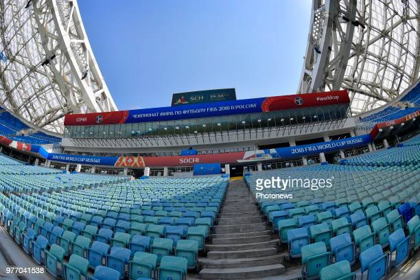General view of the Fisht stadium prior to the FIFA 2018 World Cup Russia group G phase match between Belgium and Panama at the Fisht Stadium on June...