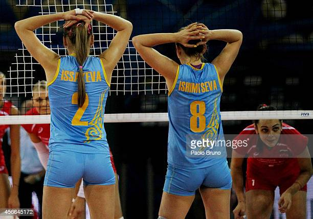A general view of the FIVB Women's World Championship pool F match between Bulgaria and Kazakhstan on October 4 2014 in Modena Italy