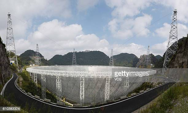 General view of the Fivehundredmeter Aperture Spherical radio Telescope in operation on September 25 2016 in Qiannan Buyei and Miao Autonomous...