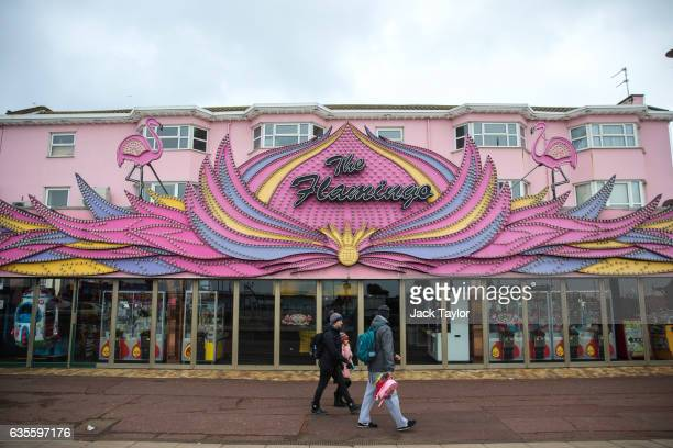 A general view of The Flamingo amusement arcade on February 8 2017 in Great Yarmouth United Kingdom The town of Great Yarmouth on the East Coast of...