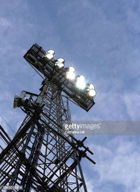 General view of the floodlight during the Sky Bet Championship Play Off Semifinal 2nd Leg match between Brentford and Swansea City at Griffin Park on...