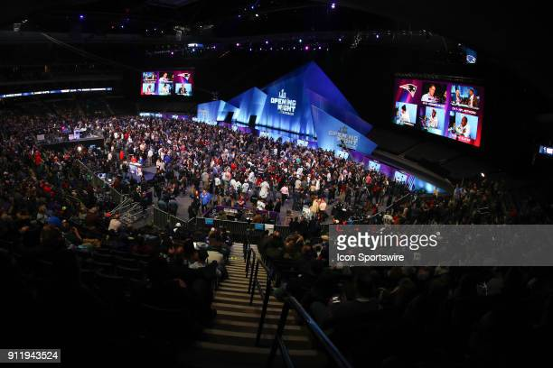 A general view of the floor during Super Bowl LII Opening Night on January 29 at the Xcel Energy Center in Minneapolis MN