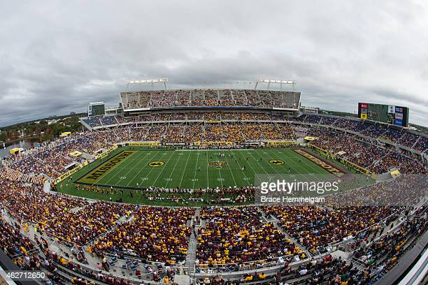 A general view of the Florida Citrus Bowl in the Buffalo Wild Wings Citrus Bowl between the Minnesota Golden Gophers and the Missouri Tigers at the...