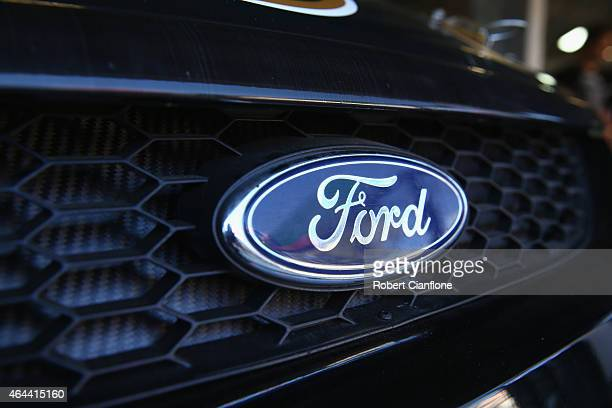 A general view of the Ford logo ahead of the V8 Supercars Clipsal 500 at Adelaide Street Circuit on February 26 2015 in Adelaide Australia