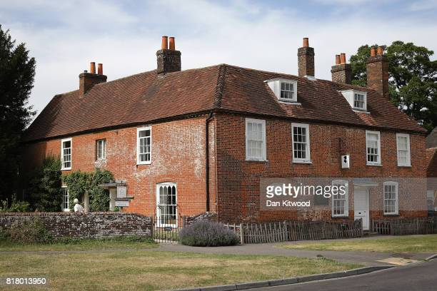 A general view of the former home of the celebrated late British author Jane Austen on July 18 2017 in Chawton England Jane Austen spent the last...