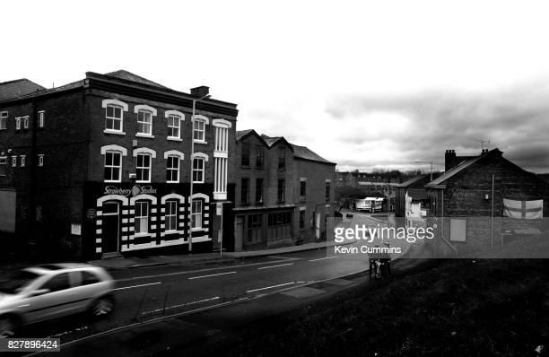 A general view of the former Strawberry Studios building in Stockport Greater Manchester 27th December 2012 The studio was owned by 10cc and between...