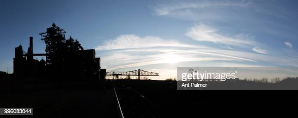A general view of the former ThyssenHüttenwerk steel mill now known as Landschaftspark Duisburg Nord Duisburg Germany February 14 2018 The original...