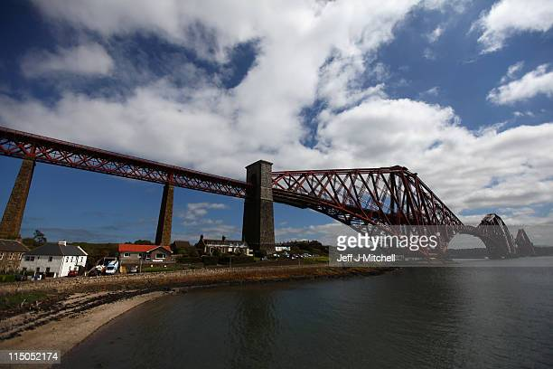 A general view of the Forth Rail Bridge on June 2 2011 in North Queensferry Scotland The 121 year old bridge has been selected for the shortlist...